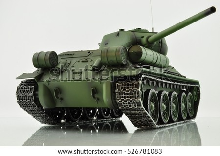 bottom view of the T34 light tank of World War II to fight the Nazis