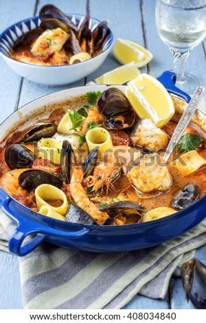 Bouillabaisse in Casserolle - stock photo