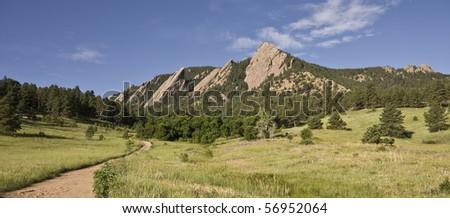 Boulder Colorado Flatirons - stock photo