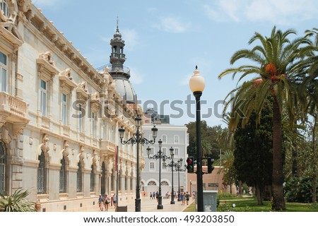 Boulevard at Heroes Square (Plaza Heroes de Cavite). Cartagena, Spain