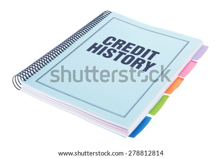 Bound Document on White Background - Credit History