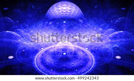 Boundaries of universe. Infinity knowledge. 3D surreal illustration. Sacred geometry. Mysterious psychedelic relaxation pattern. Fractal abstract texture. Digital artwork graphic astrology magic