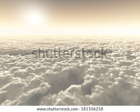 Boundless freedom above the clouds - stock photo