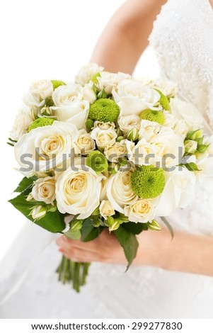 Bouquet, dress, bride.