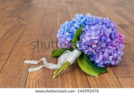 Bouquet. Hydrangea flower - stock photo
