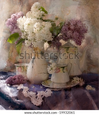 bouquet  Lilac - stock photo