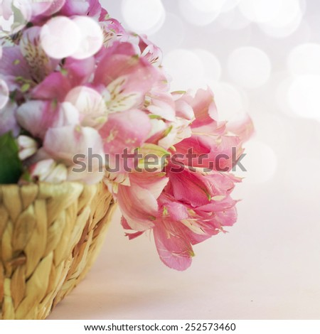 bouquet of alstroemeria
