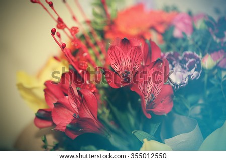 bouquet of bright beautiful flowers
