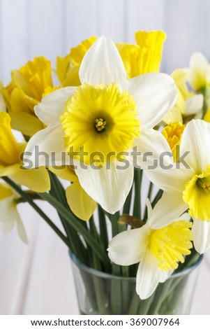 Bouquet of daffodils - stock photo