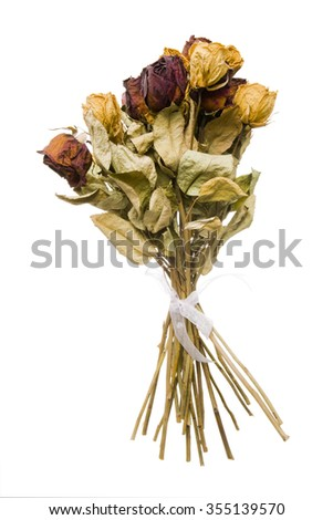 bouquet of dead roses
