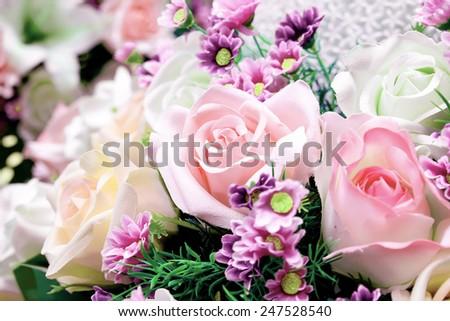 Bouquet of flower decoration  - stock photo