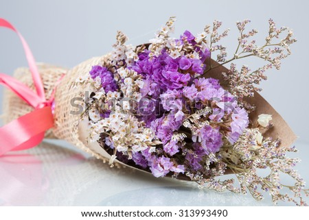 Bouquet of flower lavender flower purple color  isolated on white background - stock photo