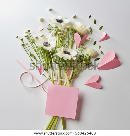 pictures of flowers and hearts