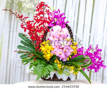 bouquet of flowers arrangements for decoration - stock photo