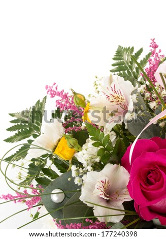 bouquet of flowers isolated on a white background - stock photo