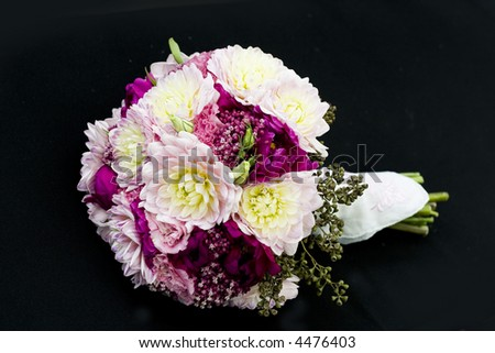 bouquet of flowers isolated on black