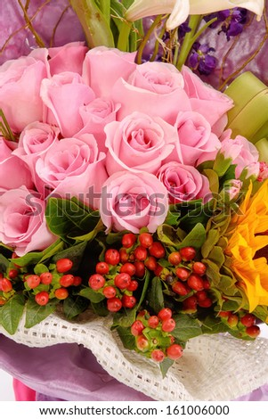 Bouquet of flowers wedding - stock photo