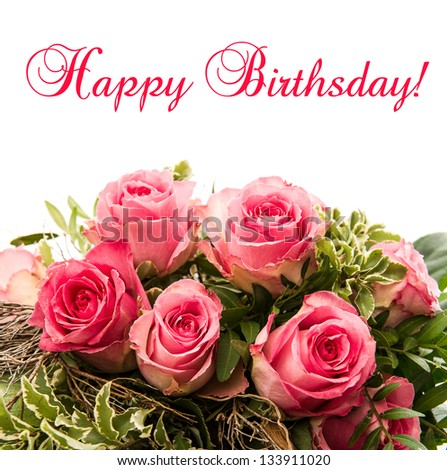 Happy Birthday Roses Stock Images, Royalty-Free Images & Vectors ...