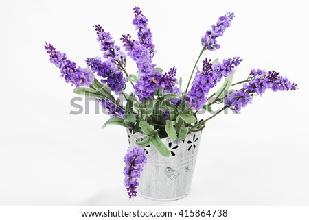 Bouquet of lavender in a vase. Provence style