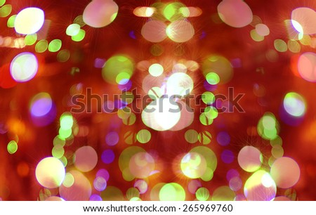 Bouquet of light , Festival, Chris Thomas and the New Year.  - stock photo