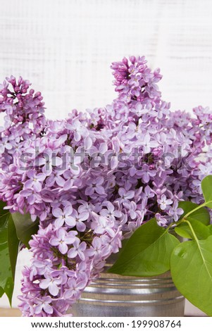 bouquet of lilac flowers  - stock photo