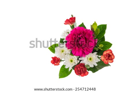 Bouquet of pink carnations and chrysanthemum Flower - stock photo