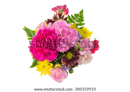 Bouquet of pink carnations and chrysanthemum Flower
