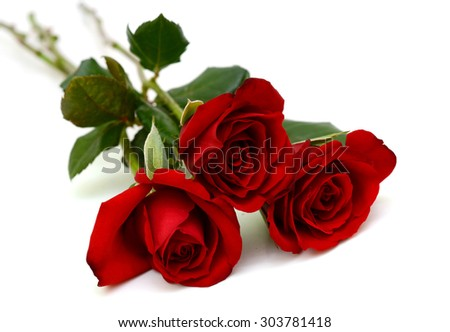 Bouquet of red rose flowers