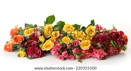bouquet of roses - stock photo