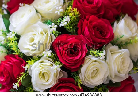 bouquet of roses,Blurred