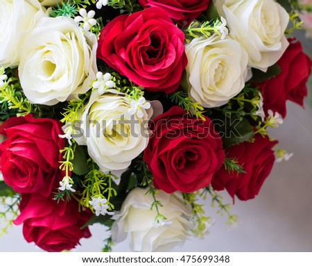 bouquet of roses,Blurred style for background.