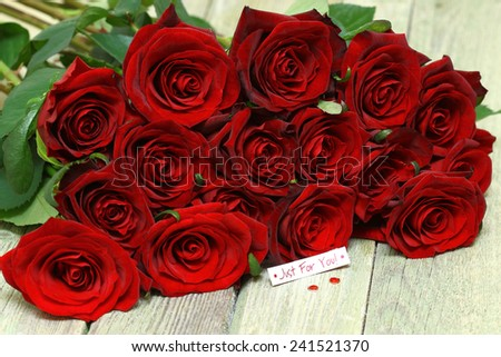 Bouquet of roses  for your favorite