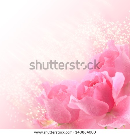 Bouquet of  scarlet roses on an orange background - stock photo