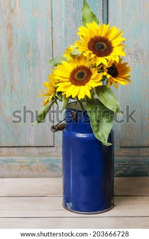 Bouquet of sunflowers - stock photo