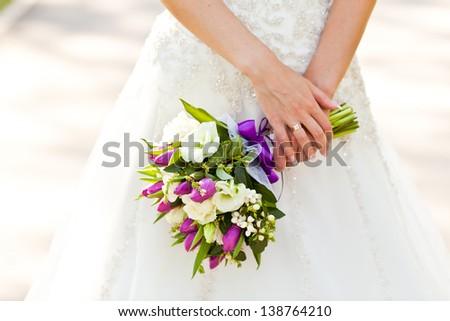 bouquet of wedding flowers - stock photo