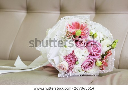 Bouquet on the sofa