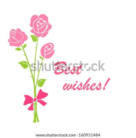 Bouquet. Raster copy - stock photo