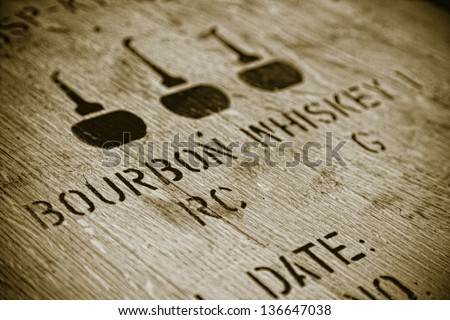 Bourbon barrel - stock photo