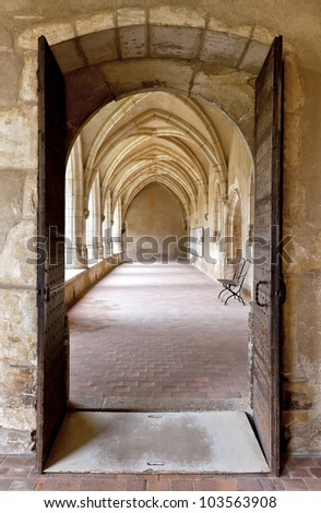 Bourg-en-Bresse (Ain, Rhone Alpes, France), Cloister of the ancient church of Brou, Bourgogne