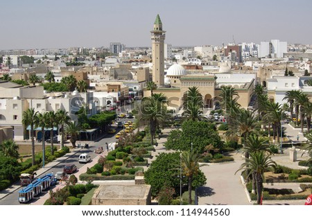 Bourguiba Mosque in Tunisia in Africa in summer day - stock photo