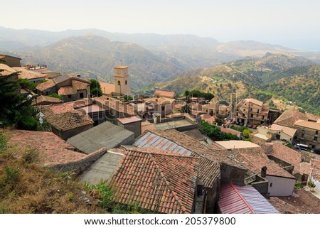 Bova, Calabria, Italy - stock photo