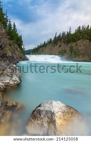Bow Falls in canada national park  - stock photo