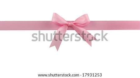 bow isolated on white background