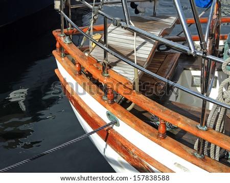 Bow keel - stock photo