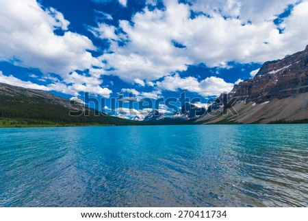 Bow Lake - stock photo