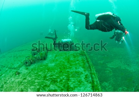 bow ship , scuba diving , shipwrecks , anchor , cold water , diving , diver , dive , old ship , Jesse Anne