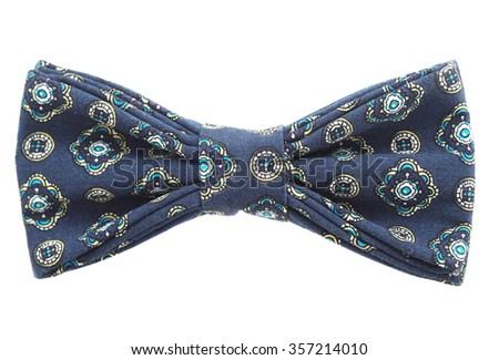 bow tie closeup on white background isolate - stock photo
