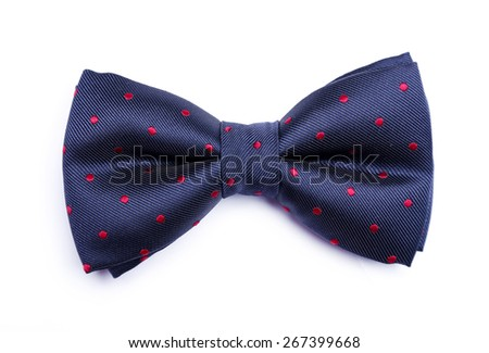 Bow tie on a white background - stock photo