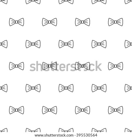 Bow Tie Seamless Pattern Fashion Graphic Stock Vector