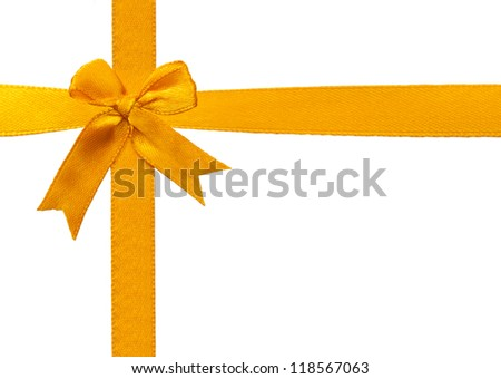Bow with golden ribbons